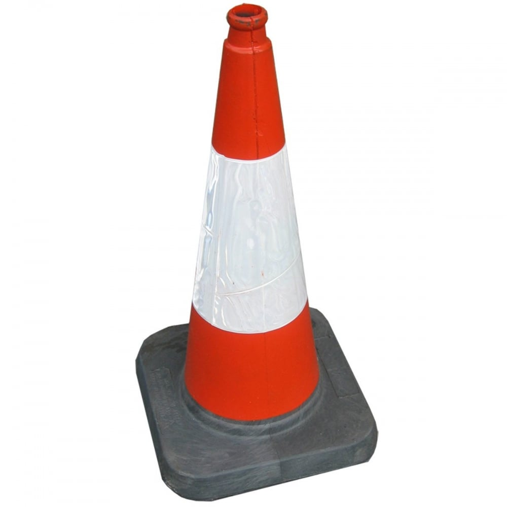 Road Traffic Cone - 50cm - Health & Safety from Gustharts UK Traffic Cone On Road