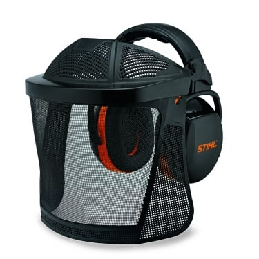 Nylon Mesh Visor - With Ear Defenders