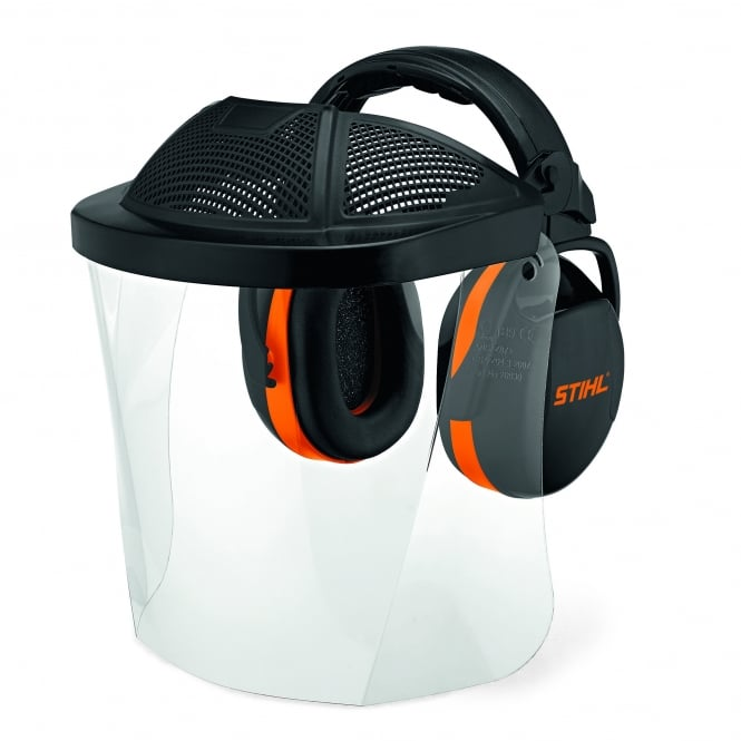 Stihl Polycarbonate Visor - With Ear Defenders