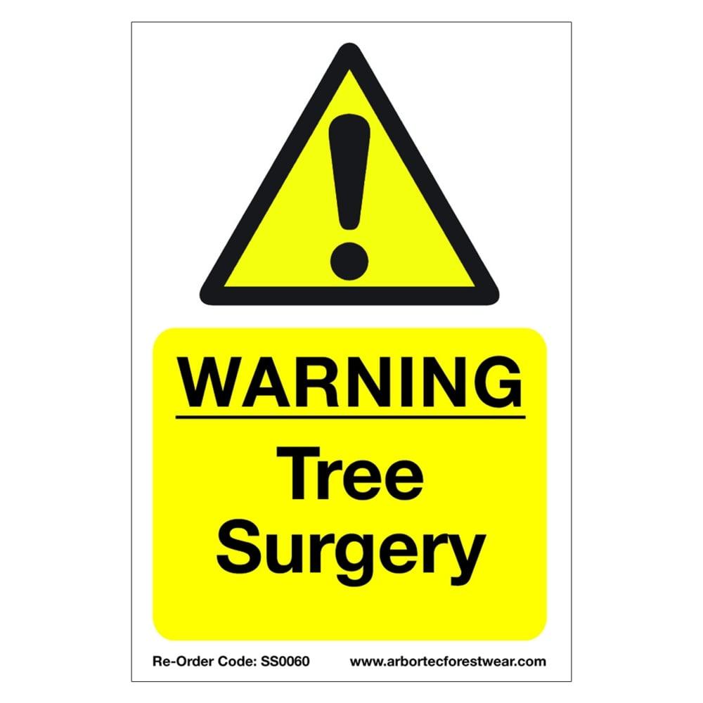 treehog correx saftey sign warning tree surgery health safety